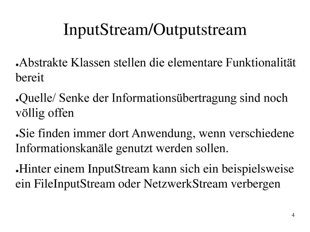 InputStream/Outputstream