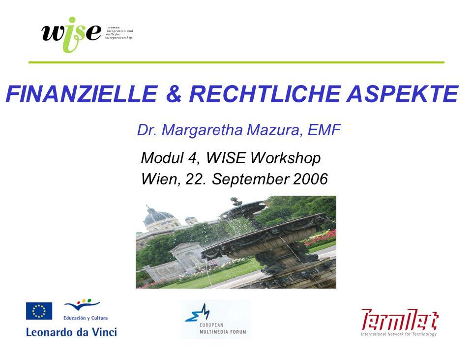 FINANZIELLE & RECHTLICHE ASPEKTE