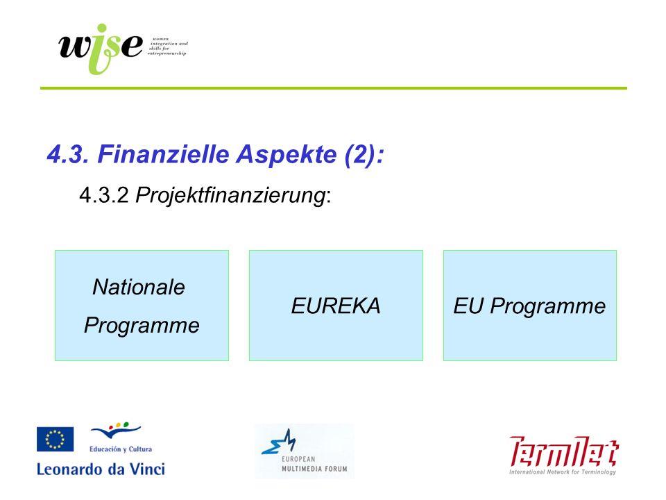 4.3. Finanzielle Aspekte (2):