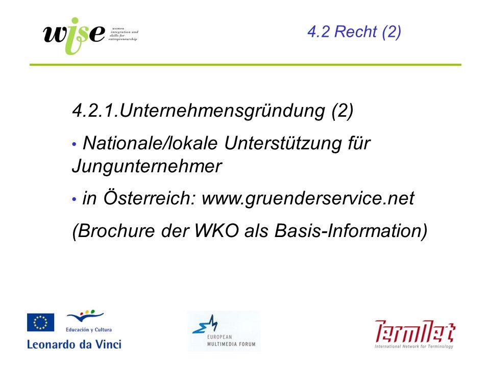 4.2.1.Unternehmensgründung (2)
