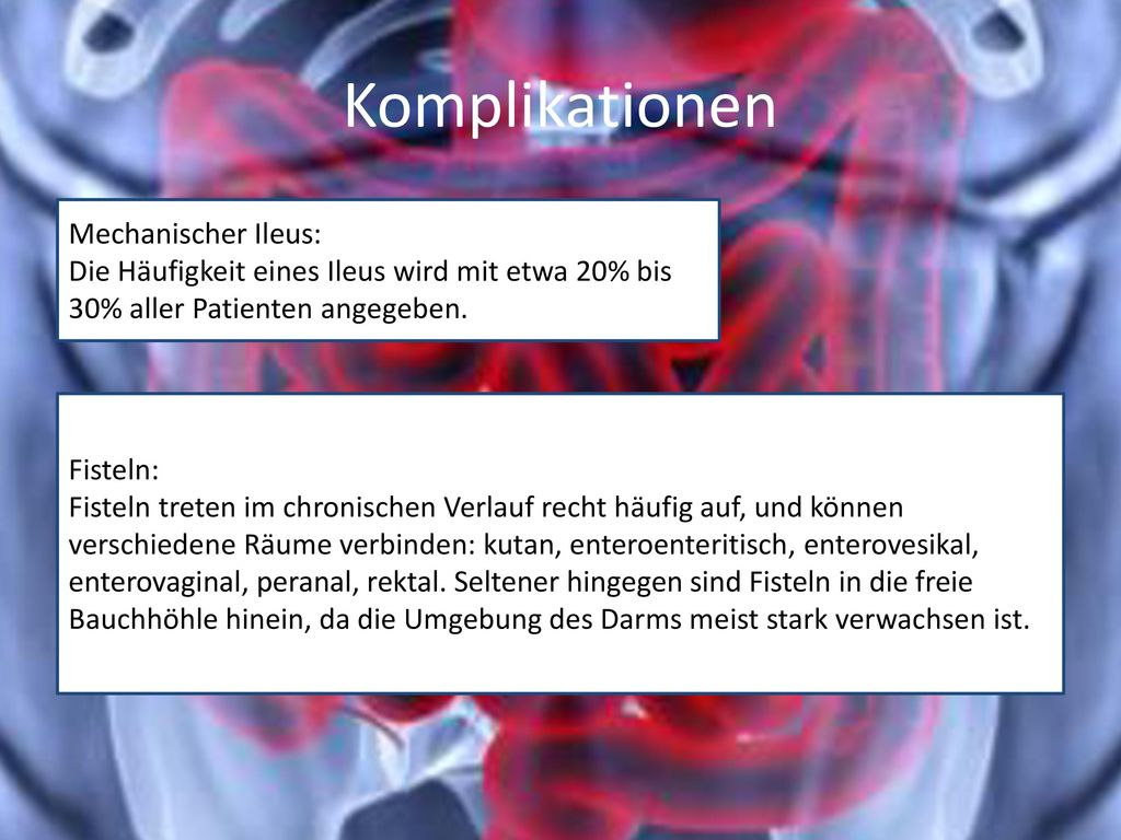 Komplikationen Mechanischer Ileus: