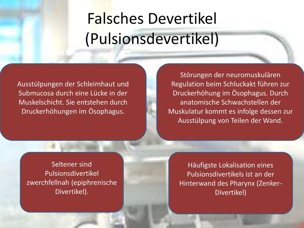 Falsches Devertikel (Pulsionsdevertikel)