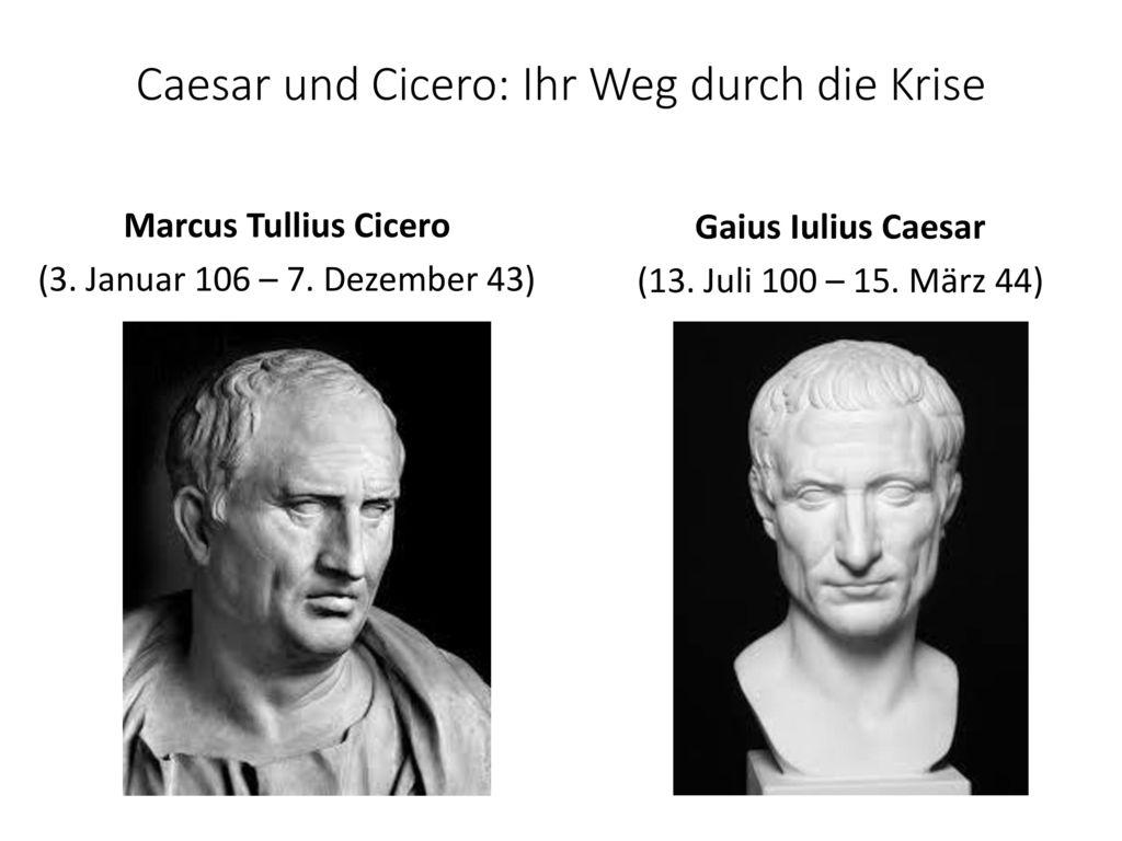 Caesar und Cicero: Ihr Weg durch die Krise