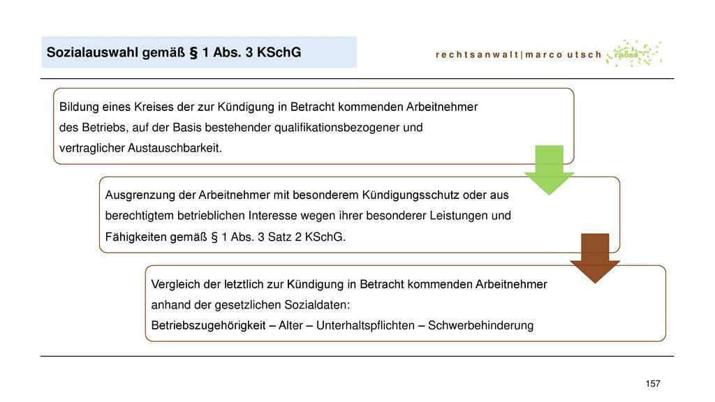 Sozialauswahl gemäß § 1 Abs. 3 KSchG