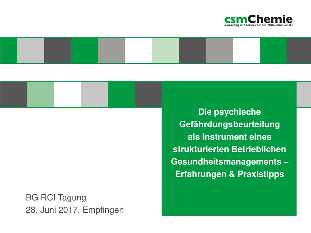 BG RCI Tagung 28. Juni 2017, Empfingen