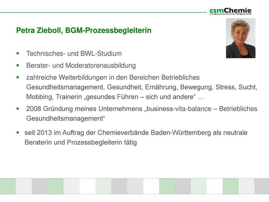 Petra Zieboll, BGM-Prozessbegleiterin