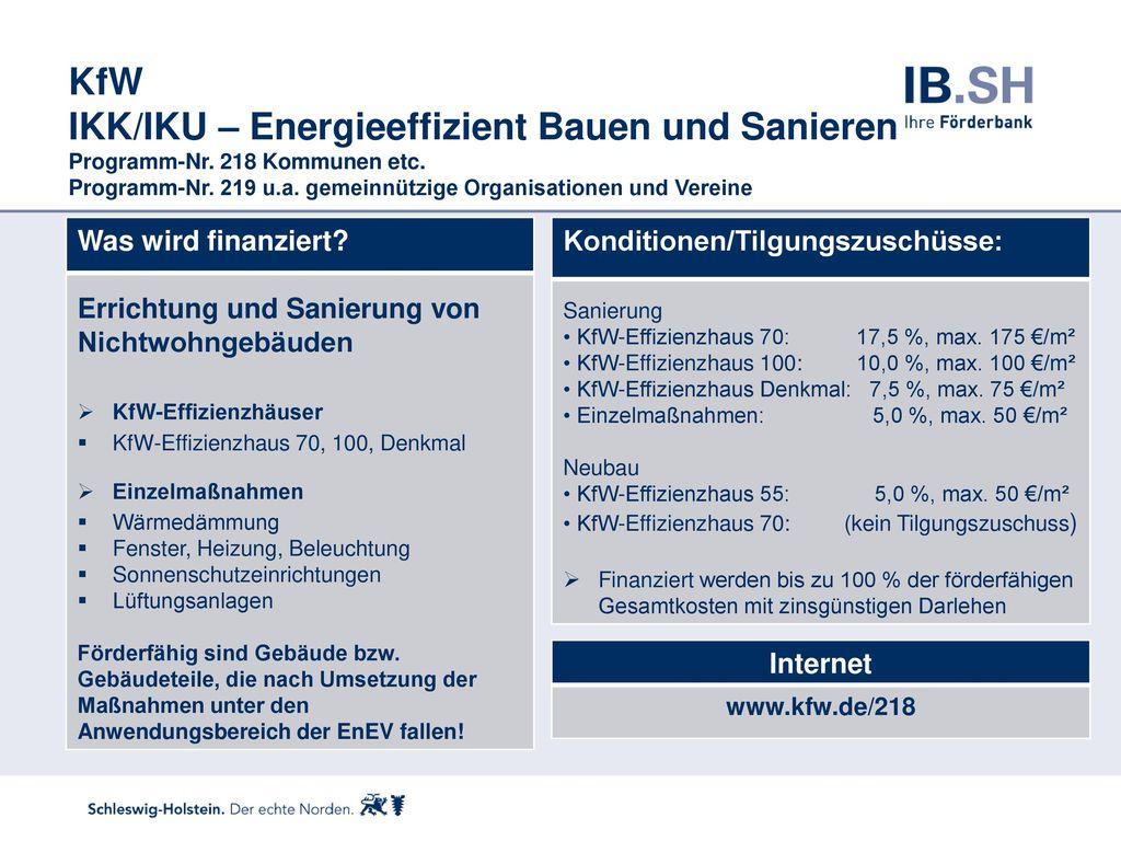 KfW IKK/IKU – Energieeffizient Bauen und Sanieren Programm-Nr