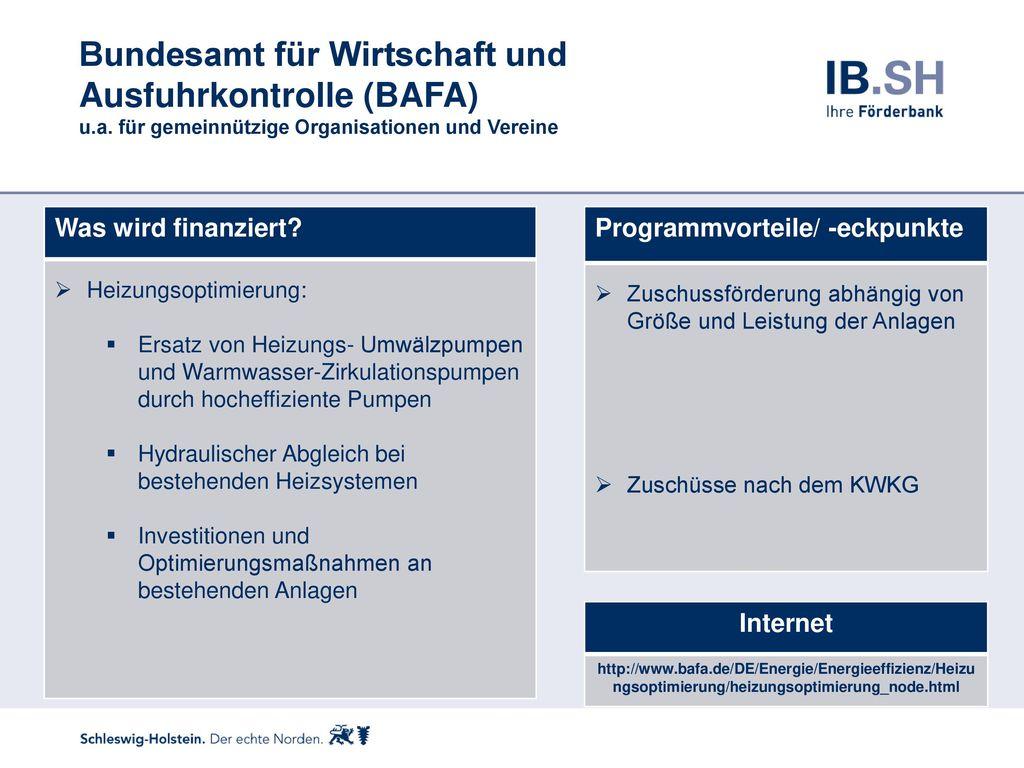 Bundesamt für Wirtschaft und Ausfuhrkontrolle (BAFA) u. a