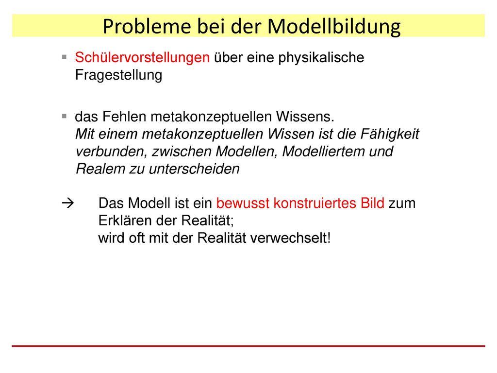 Probleme bei der Modellbildung
