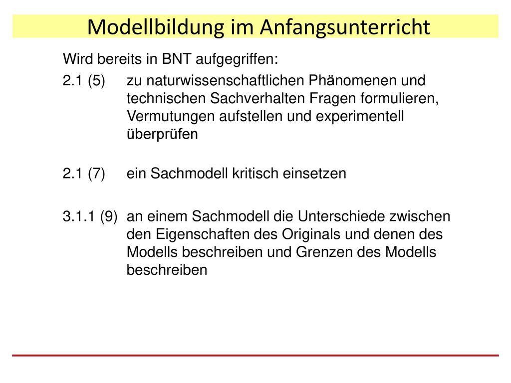 Modellbildung im Anfangsunterricht