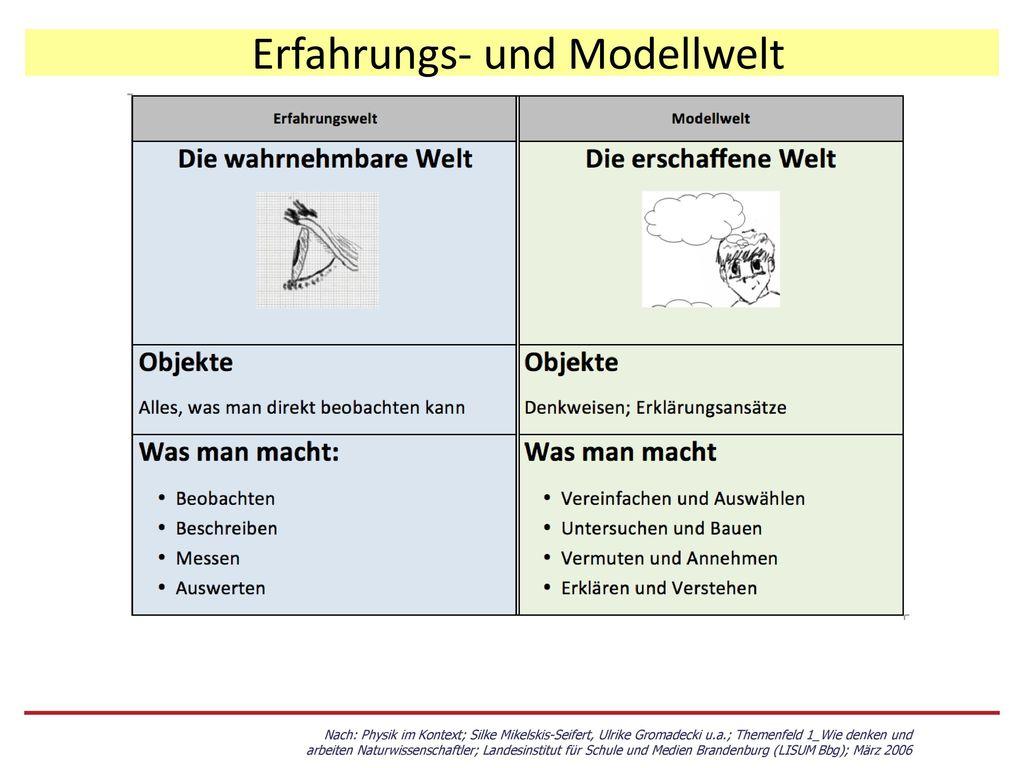 Erfahrungs- und Modellwelt