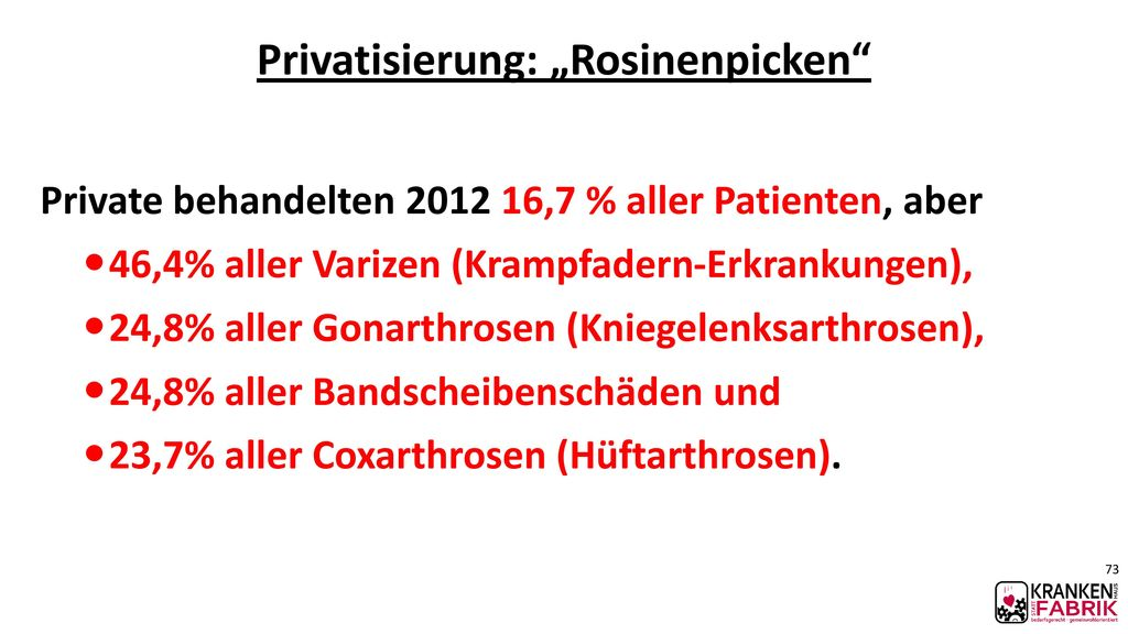 "Privatisierung: ""Rosinenpicken"