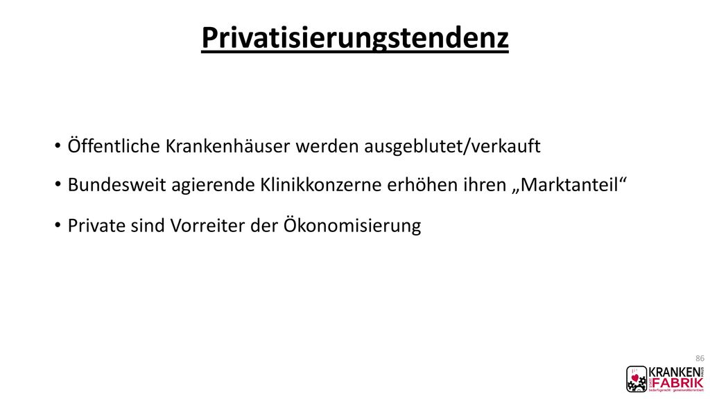 Privatisierungstendenz