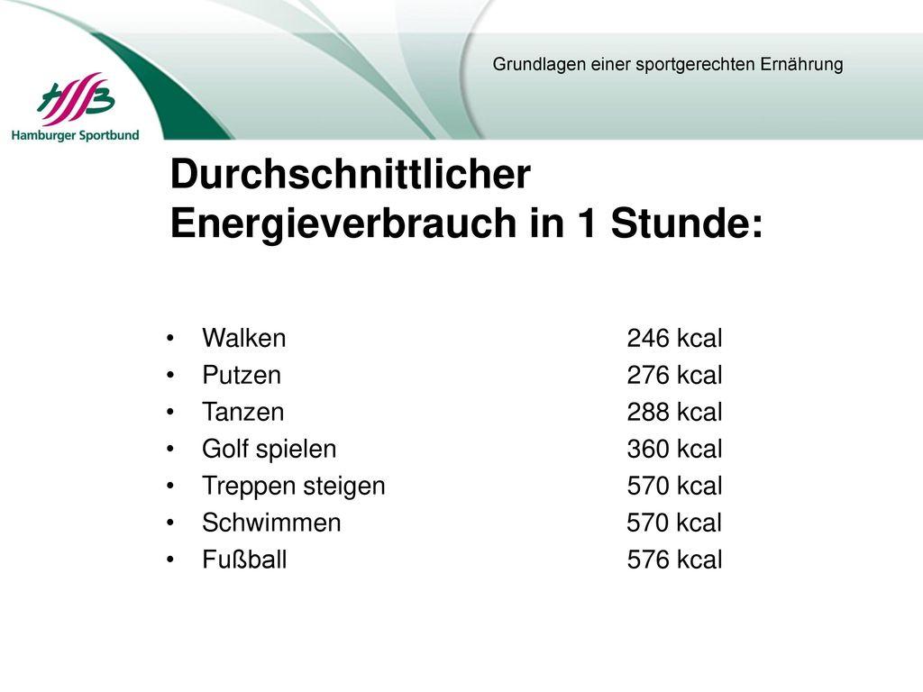 Durchschnittlicher Energieverbrauch in 1 Stunde: