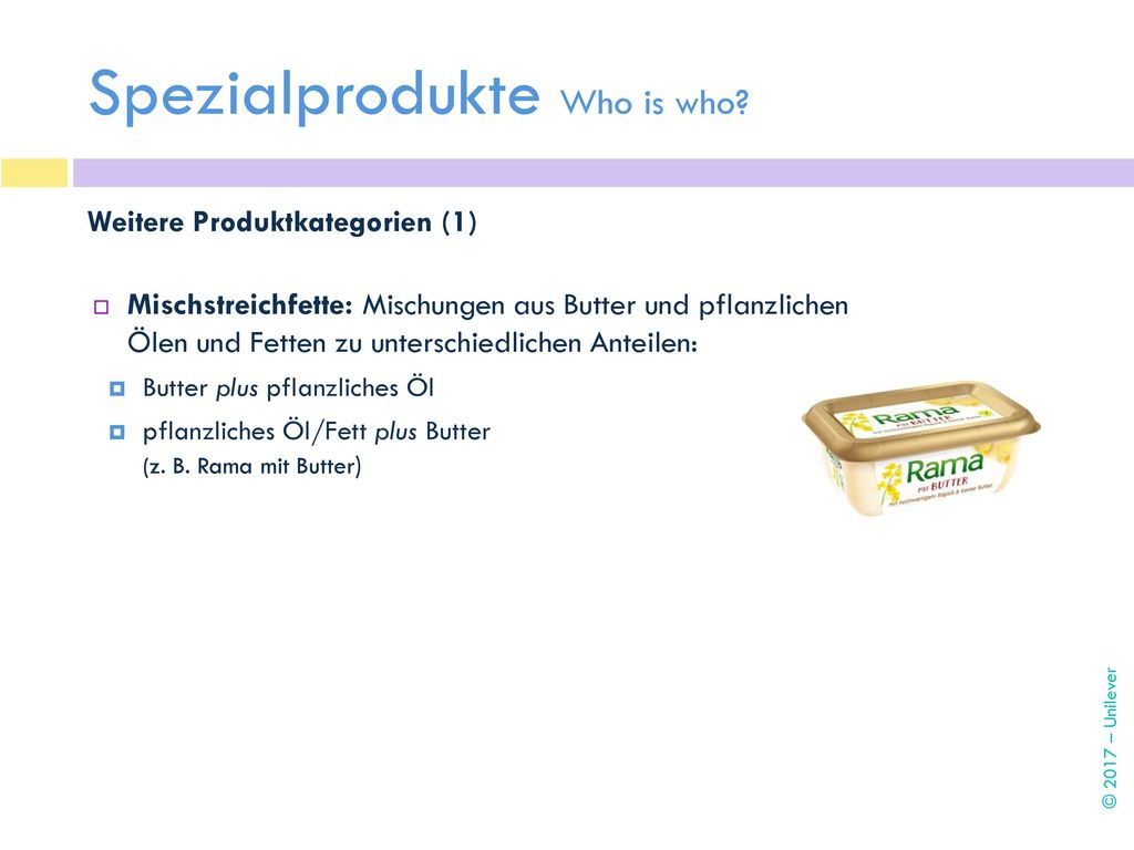 Spezialprodukte Who is who
