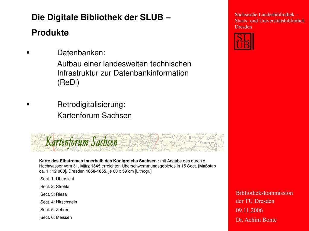 Die Digitale Bibliothek der SLUB – Produkte