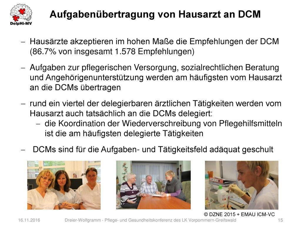 Aufgabenübertragung von Hausarzt an DCM
