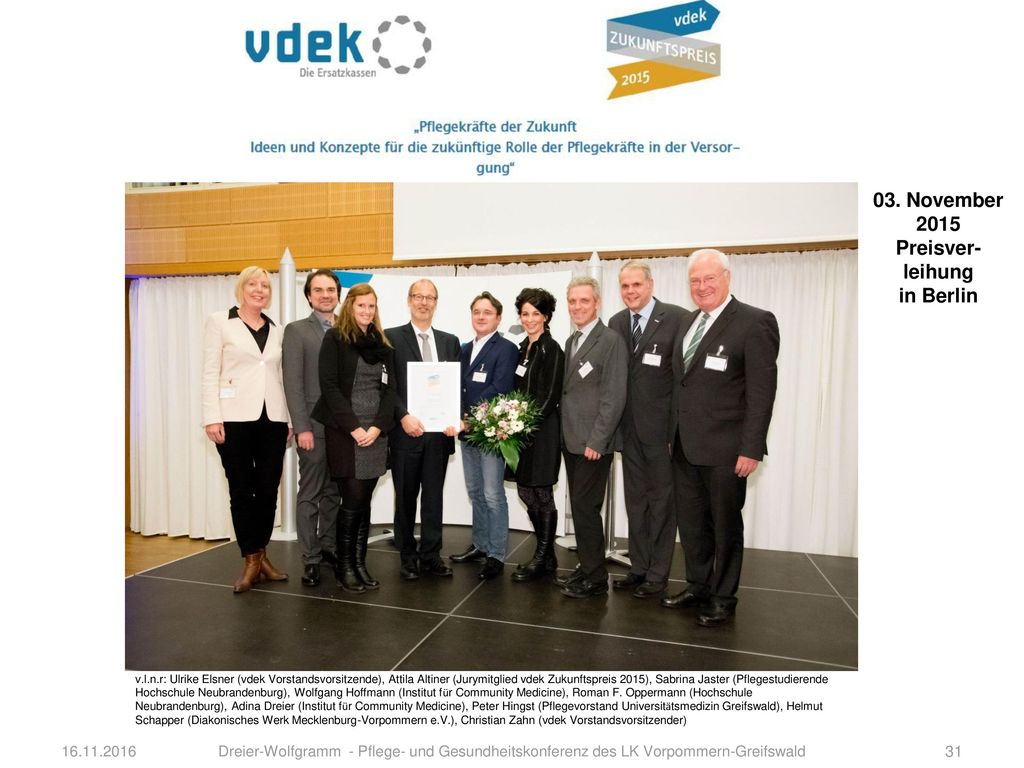03. November 2015 Preisver-leihung in Berlin