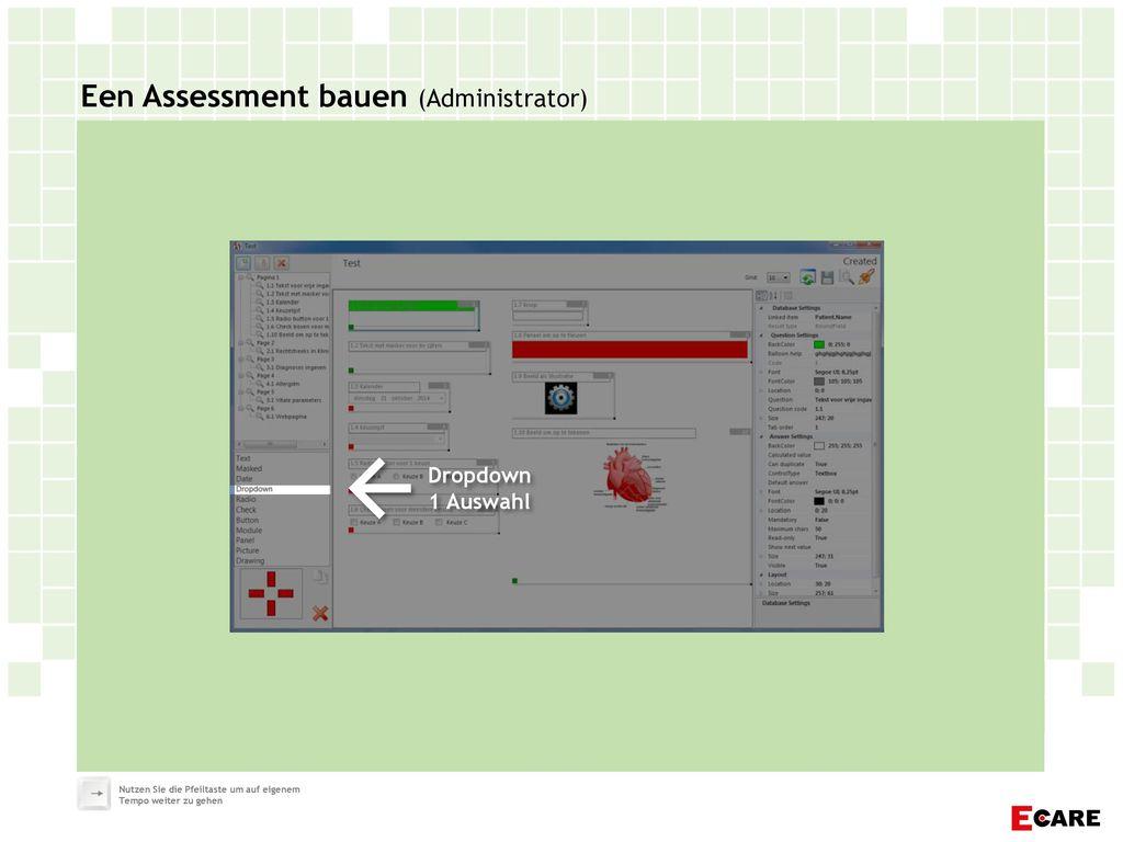 Een Assessment bauen (Administrator)
