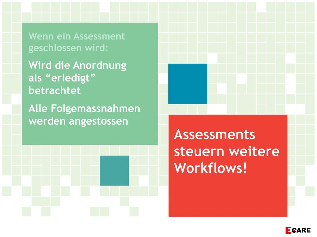Assessments steuern weitere Workflows!
