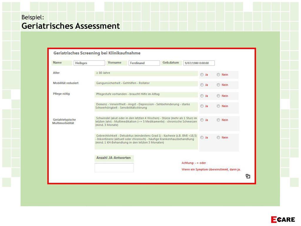 Beispiel: Geriatrisches Assessment