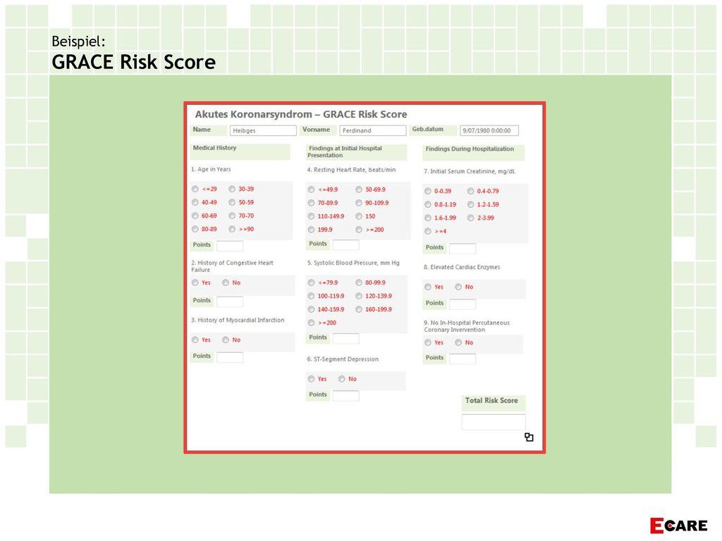 Beispiel: GRACE Risk Score