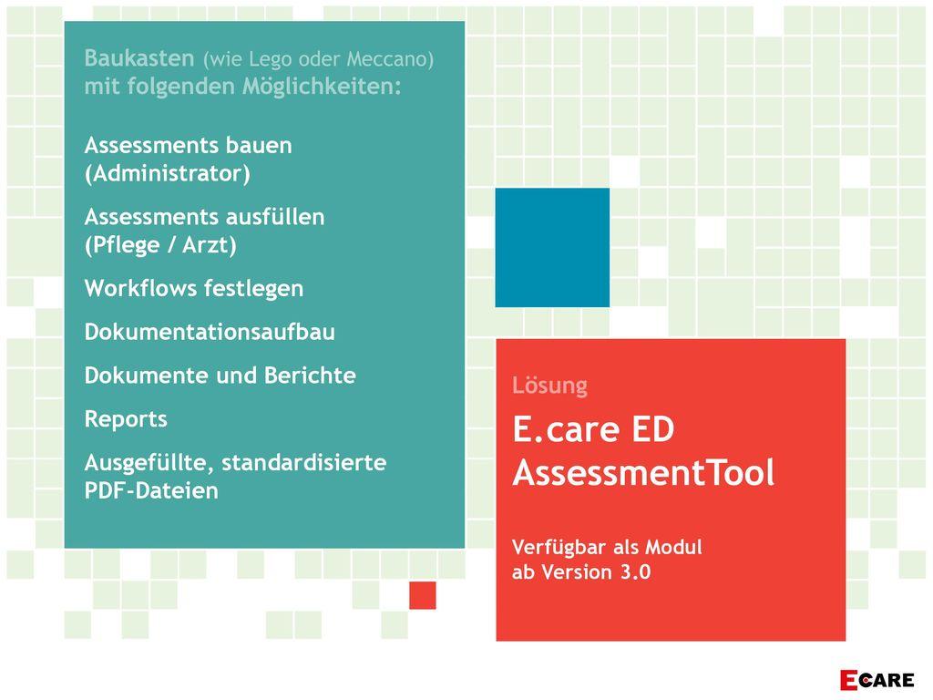 E.care ED AssessmentTool