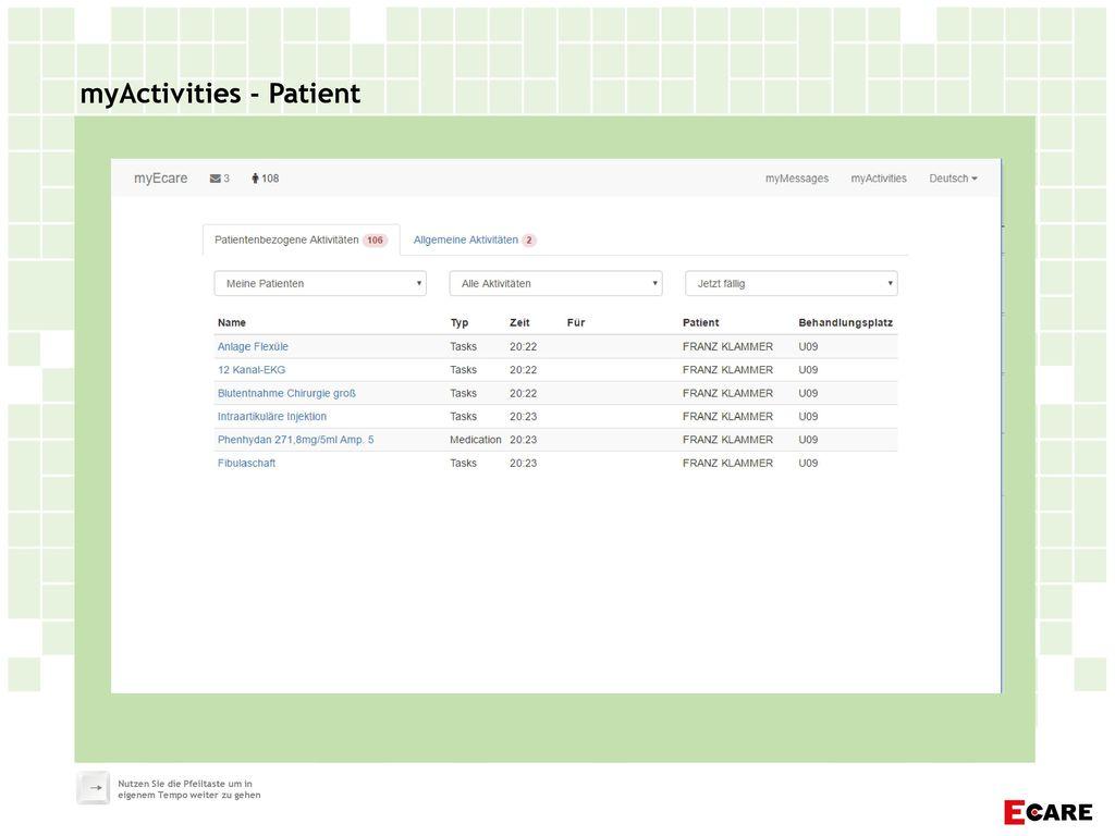 myActivities - Patient