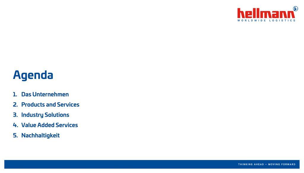 Das Unternehmen Products and Services Industry Solutions Value Added Services Nachhaltigkeit