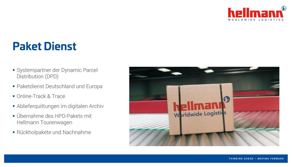 Paket Dienst Systempartner der Dynamic Parcel Distribution (DPD)