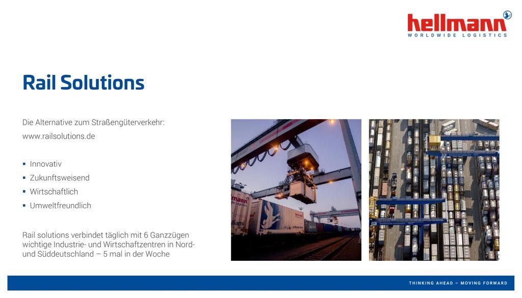 Rail Solutions Die Alternative zum Straßengüterverkehr: