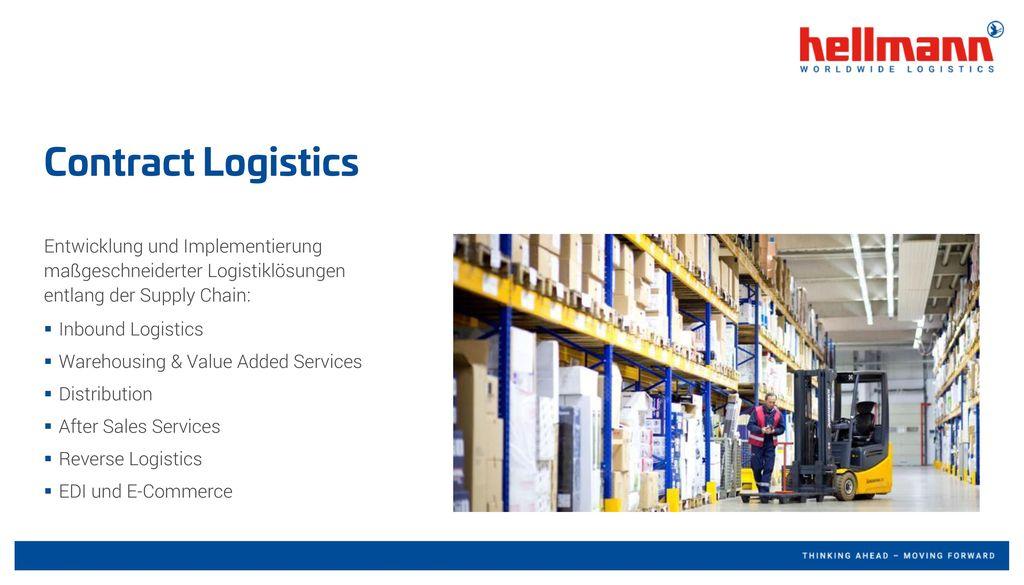 Contract Logistics Entwicklung und Implementierung maßgeschneiderter Logistiklösungen entlang der Supply Chain: