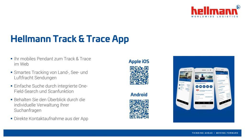 Hellmann Track & Trace App