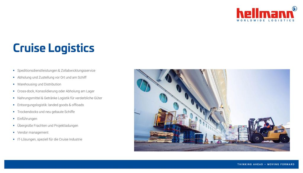 Cruise Logistics Speditionsdienstleistungen & Zollabwicklungsservice
