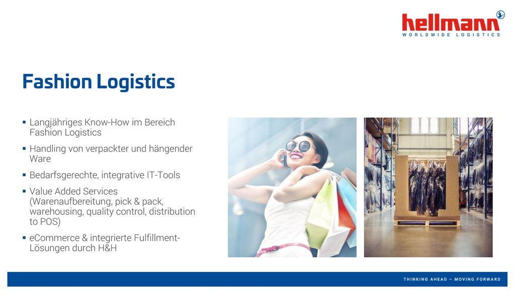 Fashion Logistics Langjähriges Know-How im Bereich Fashion Logistics