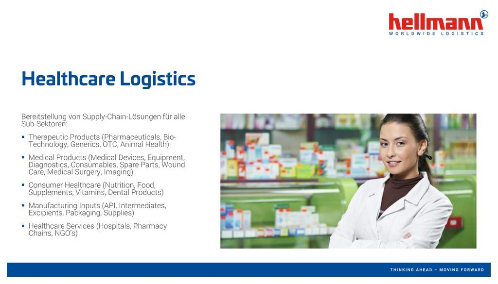 Healthcare Logistics Bereitstellung von Supply-Chain-Lösungen für alle Sub-Sektoren: