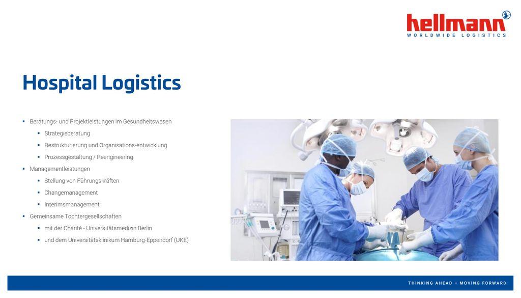 Hospital Logistics Beratungs- und Projektleistungen im Gesundheitswesen. Strategieberatung. Restrukturierung und Organisations-entwicklung.