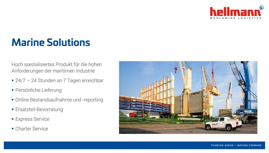 Marine Solutions Hoch spezialisiertes Produkt für die hohen Anforderungen der maritimen Industrie.