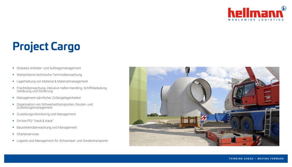Project Cargo Globales Anbieter- und Auftragsmanagement