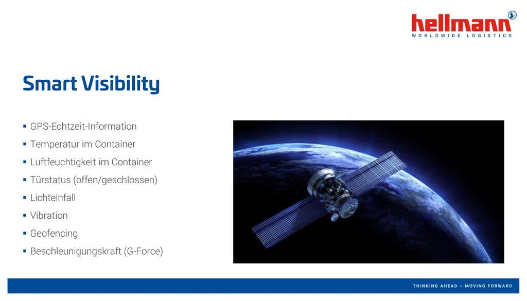 Smart Visibility GPS-Echtzeit-Information Temperatur im Container