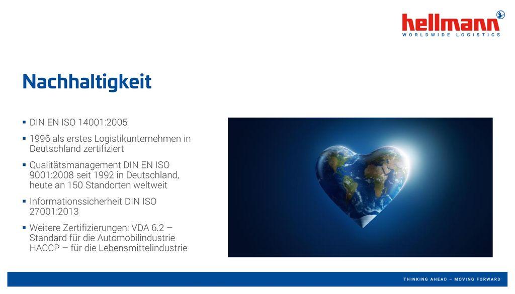 Nachhaltigkeit DIN EN ISO 14001:2005