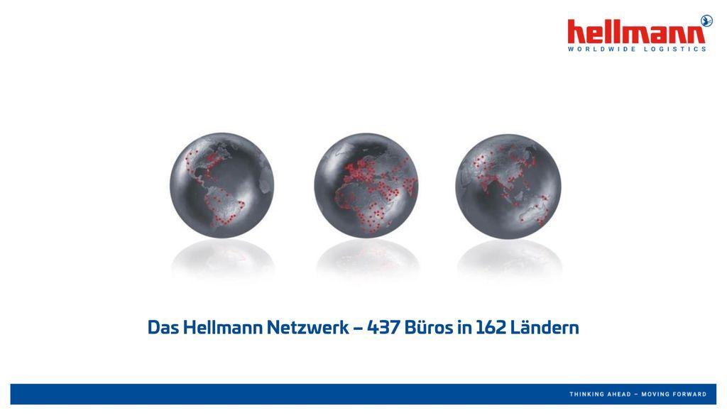 Das Hellmann Netzwerk – 437 Büros in 162 Ländern