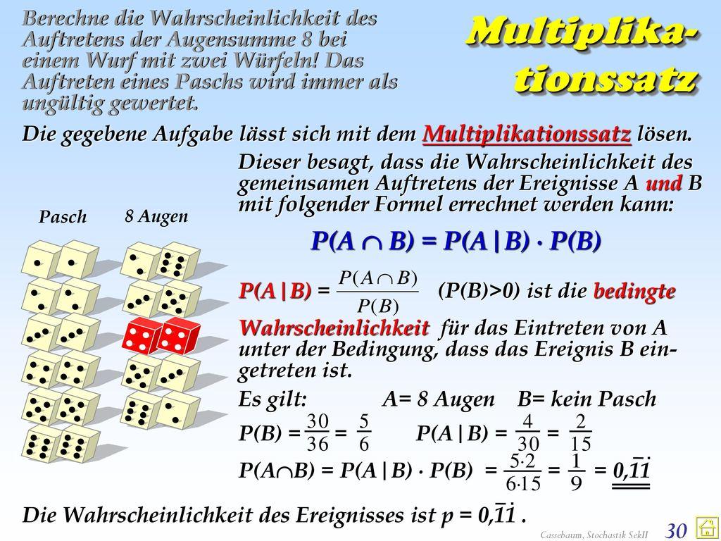 Multiplika-tionssatz