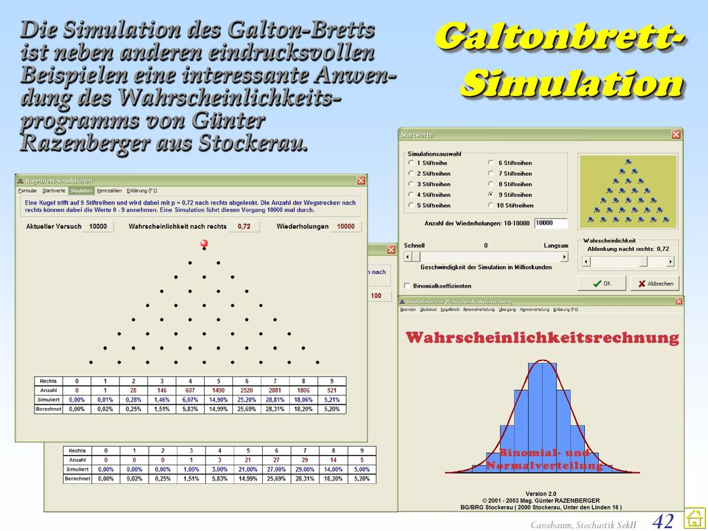 Galtonbrett-Simulation