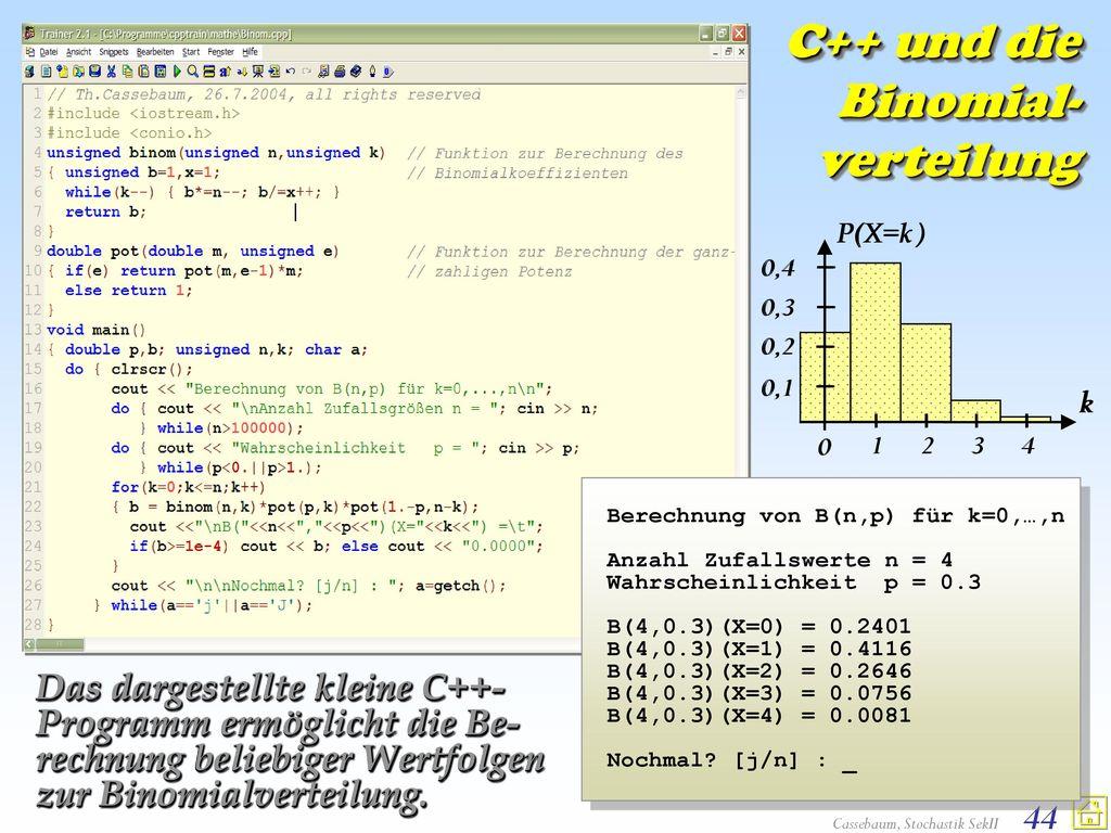 C++ und die Binomial-verteilung