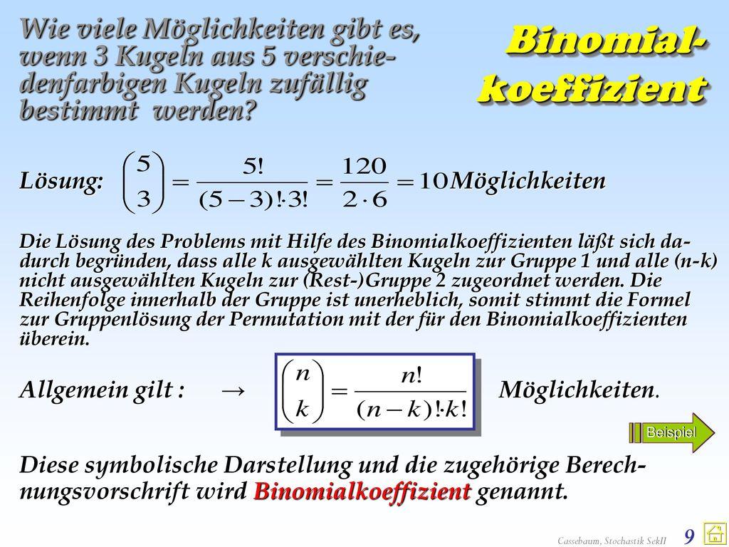 Binomial- koeffizient