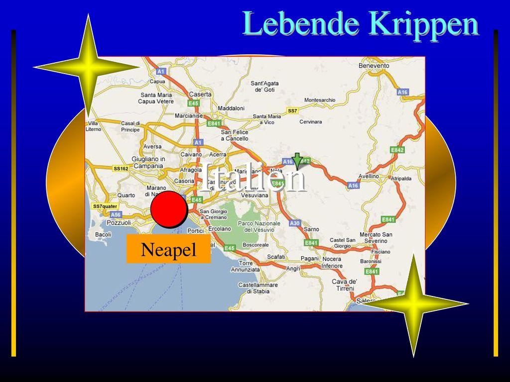 Lebende Krippen Neapel Italien
