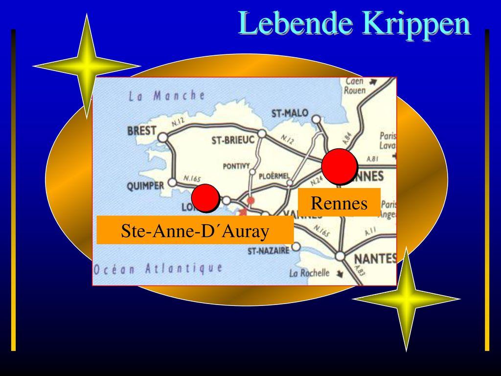 Lebende Krippen Rennes Bretagne Ste-Anne-D´Auray