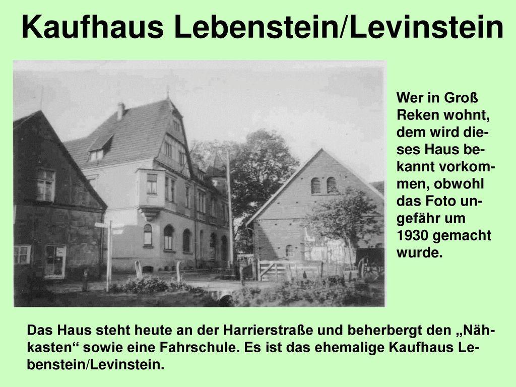 Kaufhaus Lebenstein/Levinstein