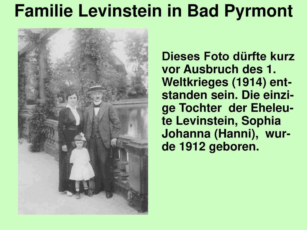 Familie Levinstein in Bad Pyrmont